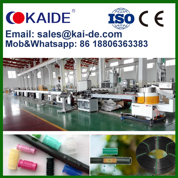 KAIDE PE round drip irrigation pipe production line