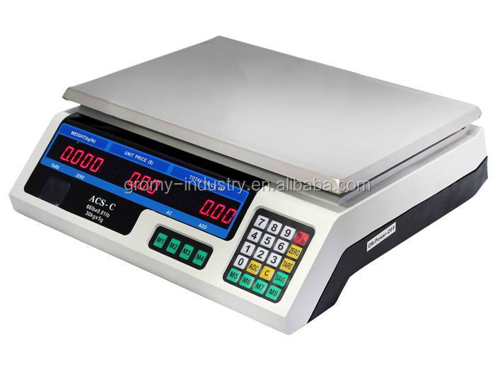Economical Electronic Digital Price Computing Scale 30kg Table Top Scale