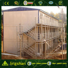 ISO 9001:2008 prefabricated steel warehouse living quarters