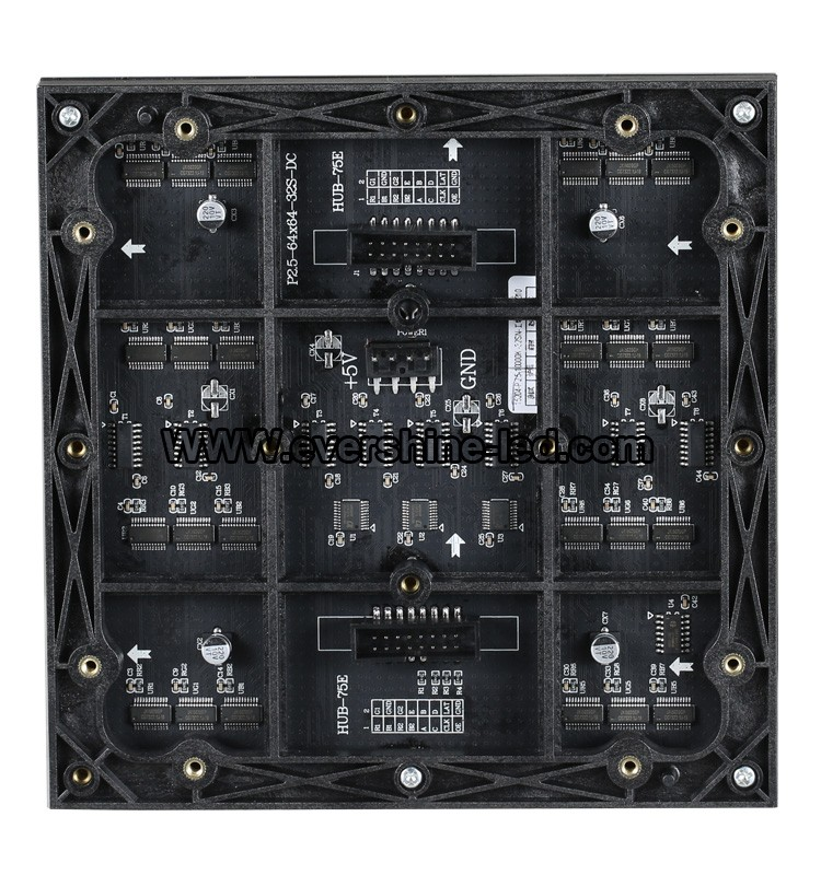 No Waterproof LED Module P2.5 Indoor LED Display 160mmx160mm for LED Monitor Commercial Display Screen