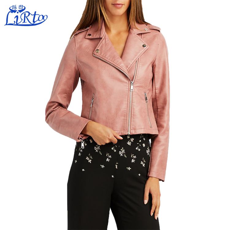 Pakistan and india ladies winter leather coat 100% leather jackets