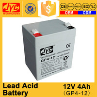 high capacity sealed lead acid 4ah 12v battery low voltage alarm