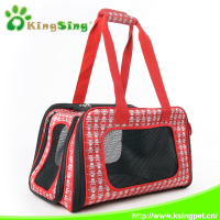 Foldable pet dog cages with high-scale jacquard fabric for dog carrier bag, pet case