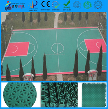 High quality and colorful free design pp plastic indoor and outdoor used basketball floors for sale