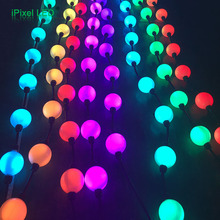 festive decorating full color ws2801/DMX rgb led indoor christmas light 3D led pixel balls