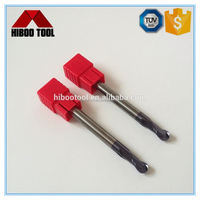 HRC55 2 Flutes Long Shank tungsten carbide taper ball nose end mill