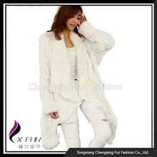 CX-G-A-215C Hot Selling Winter Knitted Rabbit Fur Jacket Women