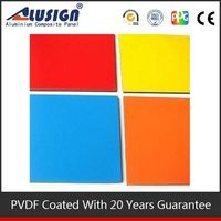 Alusign pvdf coating exterior acp facade 4ft*8ft composite panel aluminium