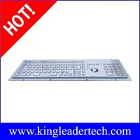 Industrial Metal Keyboard With Trackball And