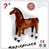 Hot sale!!!riding funny horse toys, furry and plush toys, big toy horse with wheels