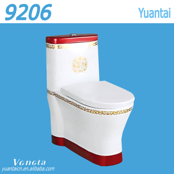 Siphon flushing color ceramic toilet wc sizes