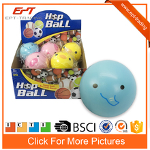 Super soft 4inch squeeze toy hop bouncing ball for kids