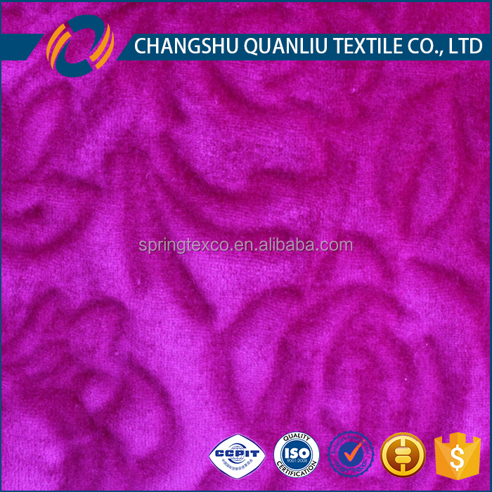 Fuschia Color Sheared Flannel Fleece Fabric