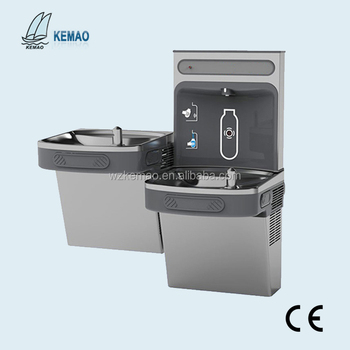 Wall mounted drinking fountain water cooler for school use