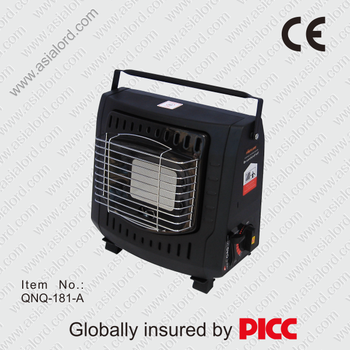Portable ceramic gas heater