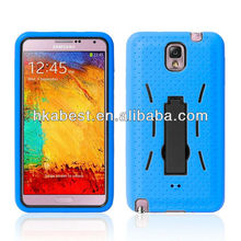 New Arrival Hybird Hard Case For Samsung N9000 With Stand,Combo PC+Silicone Defender Case For Galaxy Note 3