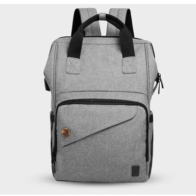 Multifunctional Grey Baby Nappy Changing Bag Backpack