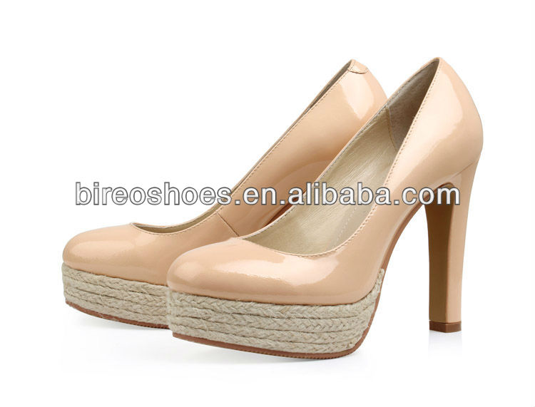 Straw platform ladies shoes( style no. WP38512)