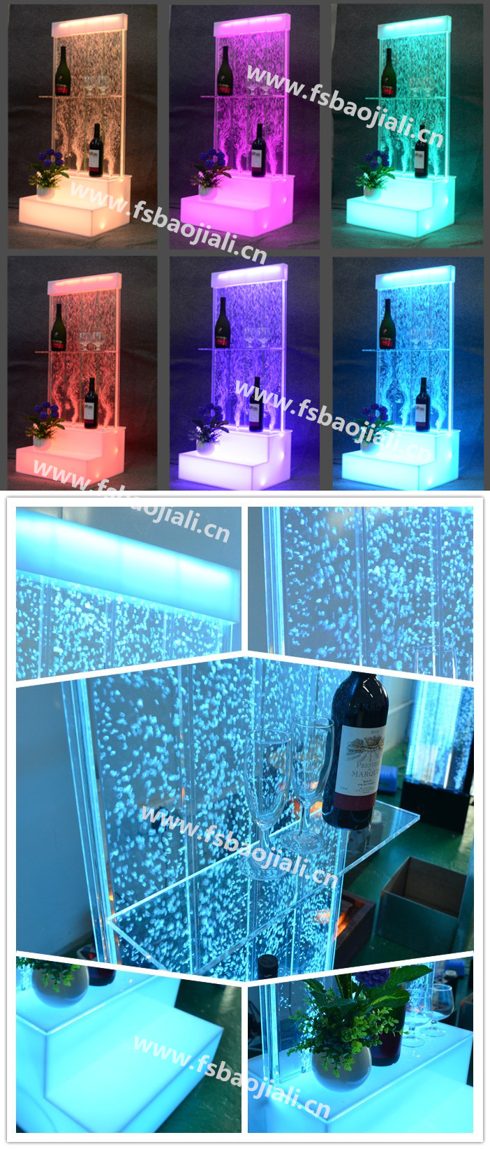 fish aquarium supply Fashion design tall led lighting aquarium tank cabinet led lounge furniture for night club decor