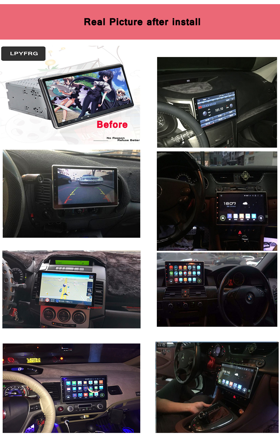 10.1 Inch Android 7.1 3G/4G LTE wholesale 2 din auto radio car dvd for universal car radio gps navigation With Remote Control