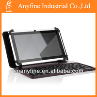 7'' Leather Case Cover USB Keyboard for 7 inch Tablet PC w/Stylus Pen &OTG-BLACK
