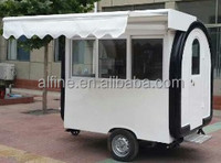 Square type mobile food stall/push cart for sale