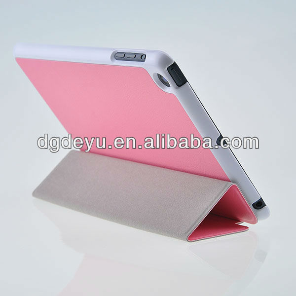 Stand up leather case for apple ipad mini