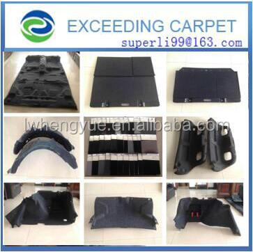 Non woven needle punched auto pet carpet fabric felt manufactures