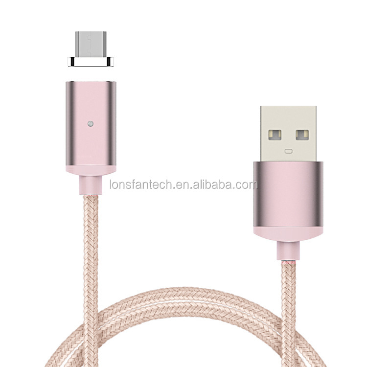 High quality Nylon Braided USB Micro Magnetic Charging Cable For Android