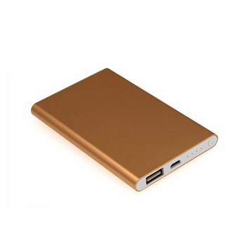 Wholesale Price Electronics Thin Aluminum cover Custom Power Bank 4000mah crazy price