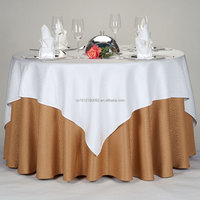 The colored wedding hotel adornment table cloth 36*36