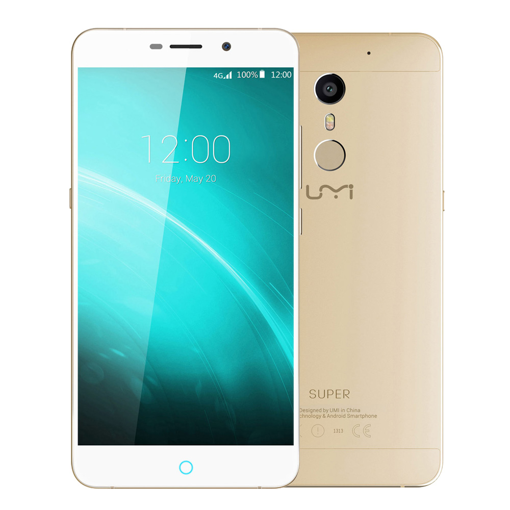 "Original UMI Super 5.5"" 4GB RAM 32GB Android 6.0 Helio P10 MTK6755 2.0GHz Octa Core ROM Smartphone Fingerprint 13MP Mobile Phone"