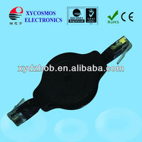 Black fairy! RJ45 to RJ45 retractable network cable
