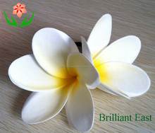 2015 new design quality fake foam plumeria flower hawaiian flower