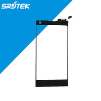 SRJTEK Touch Screen Digitizer Panel Glass Sensor Replacements Black For THL T100 T100S