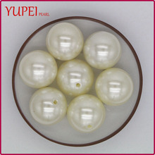 Beads Manufacture Simulated Pearl ABS White Color Imitation Pearl with 12mm 14mm 16mm 18mm