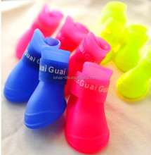 wholesale pet shoes outdoor rain boots dog shoes with qr code