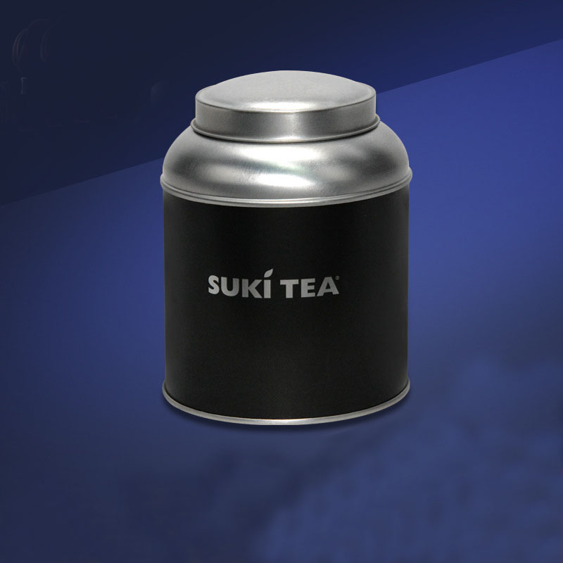 UV Coating Cylinder Tea Packaging Tin Box