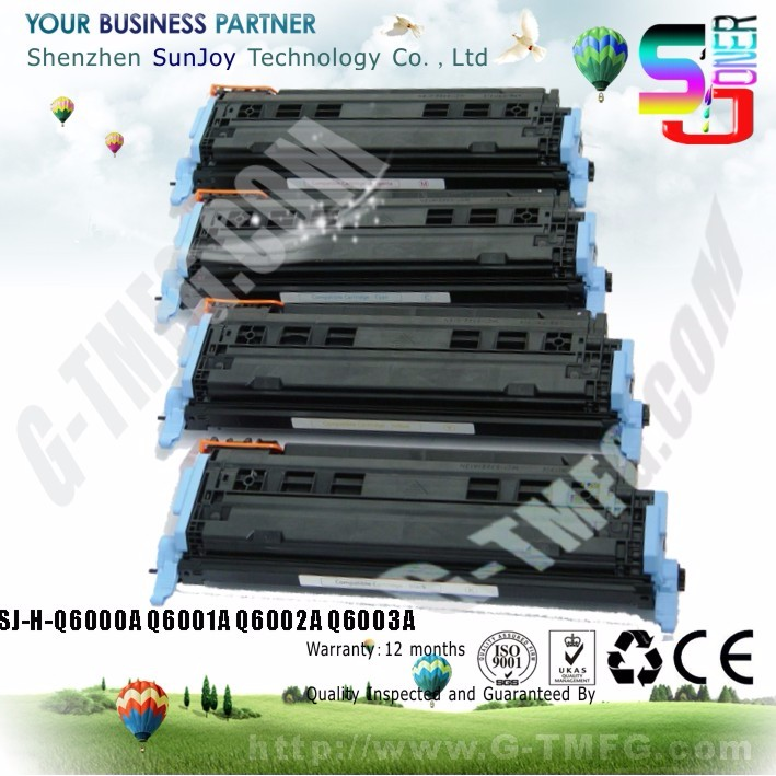 Color printe compatible color 124A Toner Cartridge Q6000A for Color LaserJet 1600 2600 2600N CM1015 CM1017