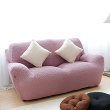 Solid color quilted sofa cover, hot product spandex couch protector quilted spandex fabric