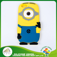 Top selling silicone insulation cartoon logo rubber cell phone case