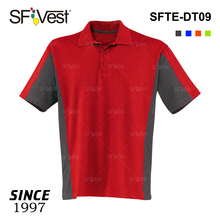 100% polyester or cotton clothing hign quality color matching polo t shirt