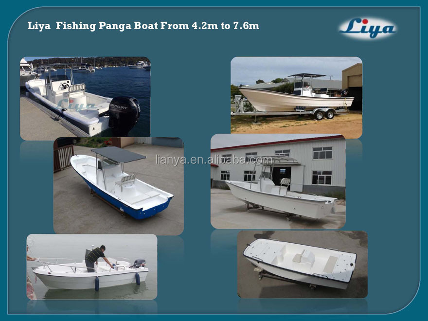 Liya panga fishing boat 25ft fiberglass work crafting boat for sale