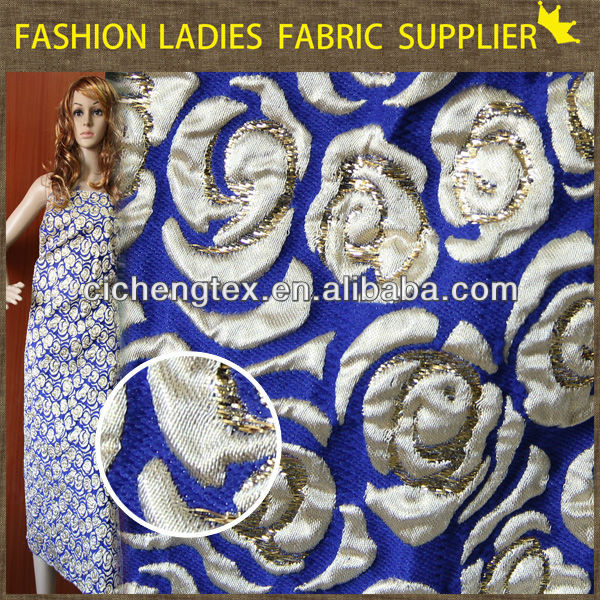 shaoxing textile Hot sales! poly/ctn jacqaurd fabric,garments fabric,ladies' wearing fabric 230gsm jacquard materials