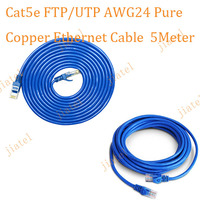 Pure Copper & Stock Sufficient !!! Wholesale CAT5E FTP Ethernet Cable 5meter