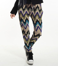 The New Style Faux Rabbit Hair Autumn And Winter Trousers Casual Fashion Wave Wide Leg Pants 9699
