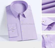 latest designed elegant purple embroidery dress shirts for men wear