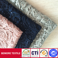 High quality nylon stretch softtextile embroidery lace fabric for bridal dress wholesale