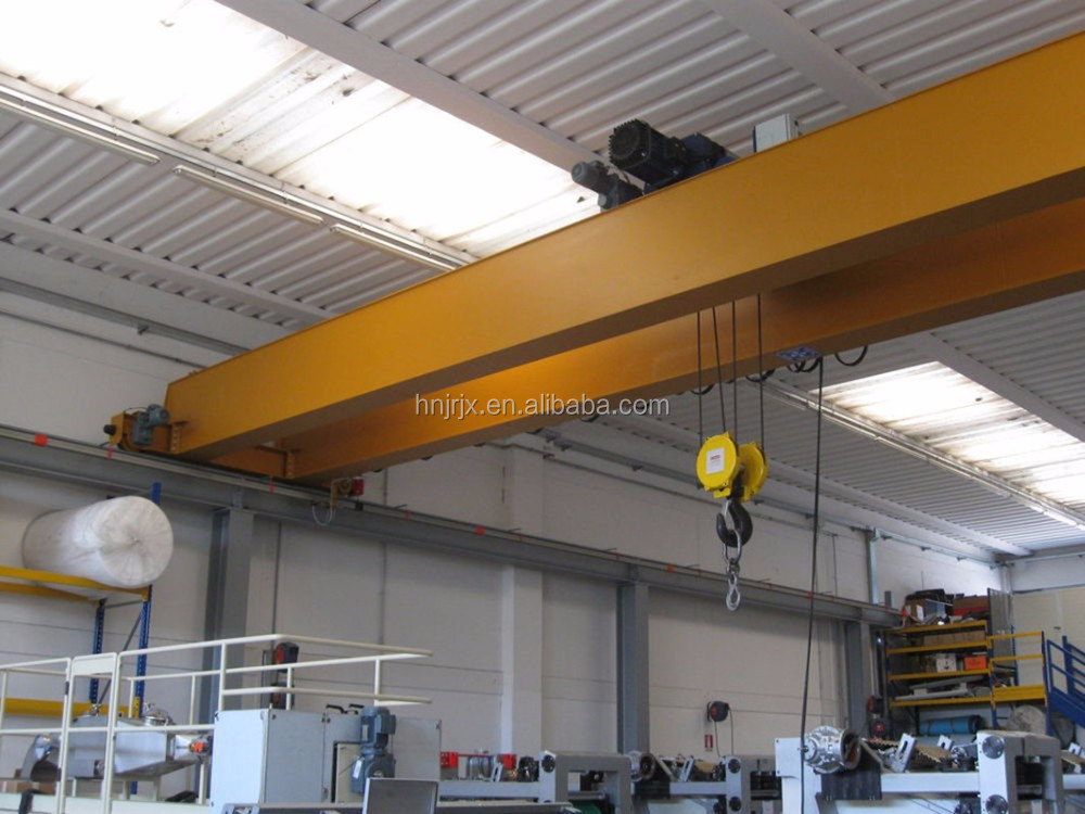 5 ton 100 ton Industrial Double Hook Bridge Cranes Mobile Overhead EOT Crane