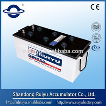 DIN&JIS standard dry charged starter battery for automobile